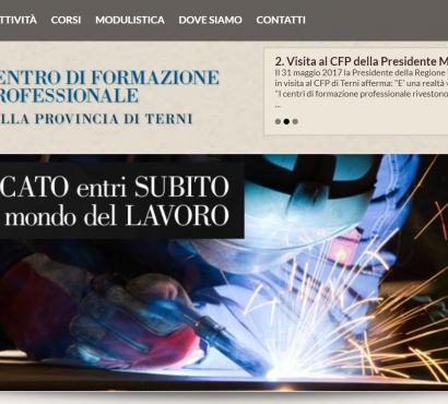 Centro di formazione professionale di Terni: occupazione è integrazione