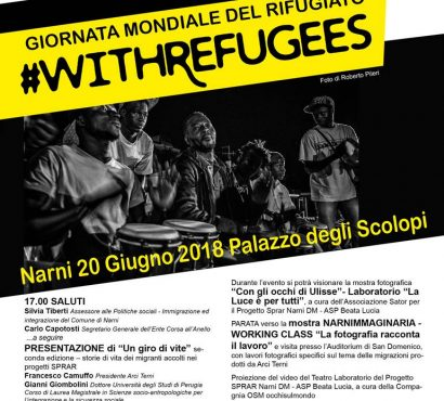 #Withrefugees, la Giornata Mondiale del Rifugiato a Terni