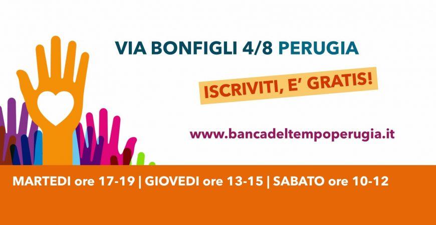 Depositare il tempo in banca: oggi si può anche a Perugia