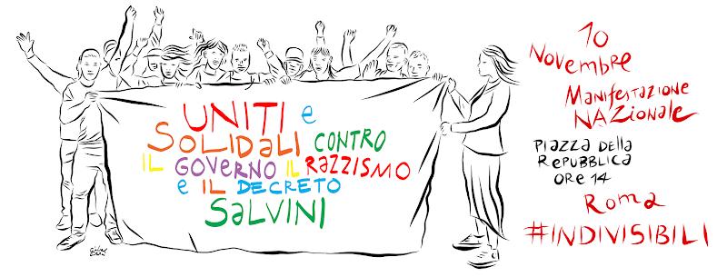 Uniti e solidali contro il Governo, il razzismo e il Decreto Salvini- Manifestazione
