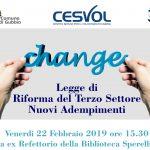 Legge di riforma del Terzo Settore – convegno a Gubbio