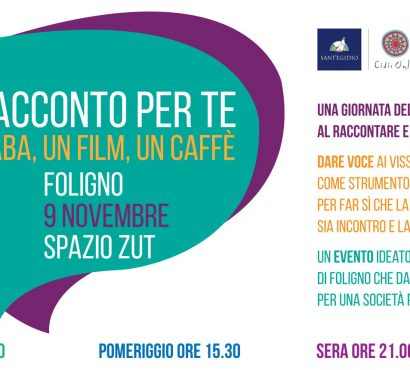 """""""Un racconto per te"""", l'evento a Foligno per raccontare e raccontarsi"""
