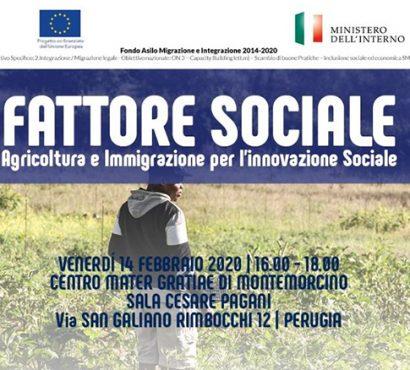 Agricoltura ed integrazione, a Montemorcino per conoscere le buone pratiche in Italia e in Umbria