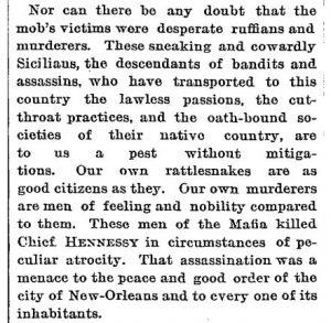 Estratto dal NY Times del 16 marzo 1961 sul Linciaggio di New Orleans