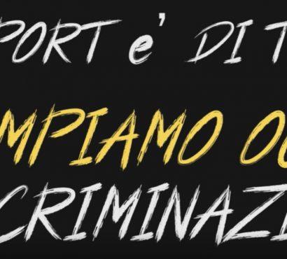 #Odiarenoneunosport, contro l'hate speech nello sport (e nella vita)