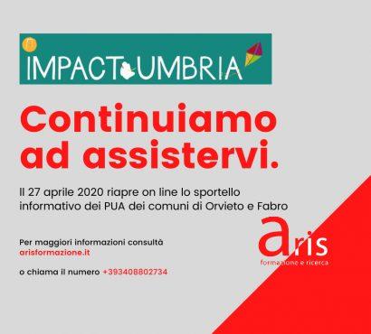 Anche con il covid-19 continuano i servizi del progetto IMPACT di Aris Formazione