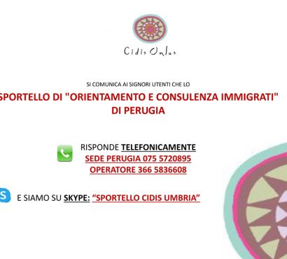 Lo sportello informativo a distanza e in presenza: numeri utili e orari in Umbria