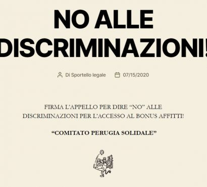 """L'appello di Perugia Solidale per un """"bonus affitti"""" aperto a tutti"""