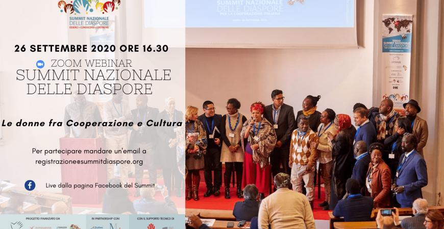 Donne migranti, cultura e cooperazione: il webinar di Summit nazionale delle diaspore
