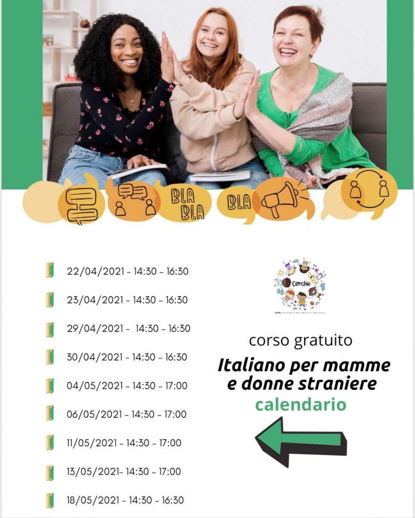 calendario corso italiano cerchio