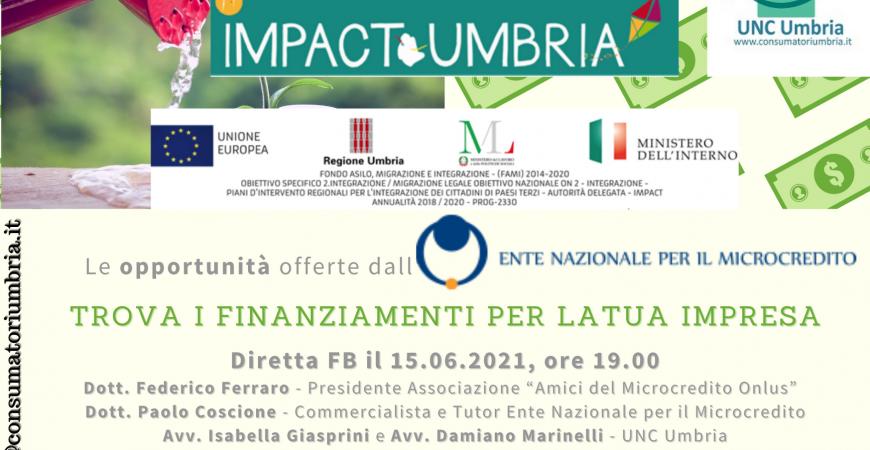 Convegno 15.06.2021 microcredito UNC Umbria